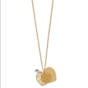 Double Heart Pendent Necklace-NWT-Lauren Conrad
